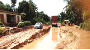 Failed portion of Umuahia-Ikot Ekpene Road