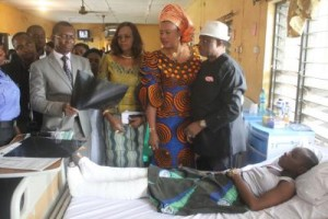 Obiano touring a health centre in the state