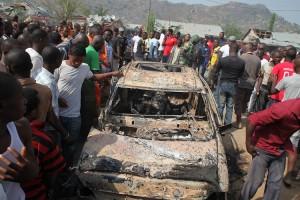 Scene of a Boko Haram attack in Abuja