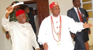 Eze Ilomuanya and former President Jonathan