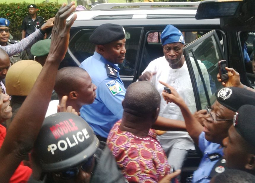 Chief Olu Falae shortly after his release from kidnap by Fulani herdsmen