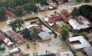 A flooded community (Photo credit: Vanguard)