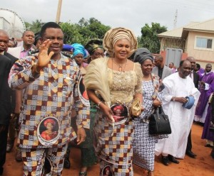 Governor Obiano and his wife, Ebelechukwu