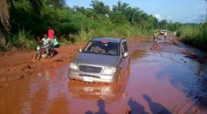 A section of the Owerri -  Port-Harcourt road