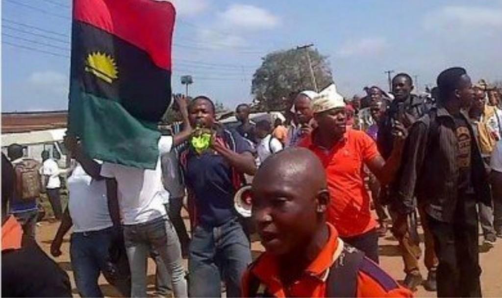 IPOB protests in Onitsha (Credit: Vanguard)