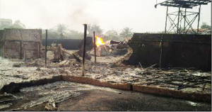 Scene of the explosion. Credit: Nigerian Red Cross
