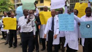 Doctors of the hospital on strike
