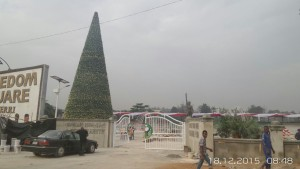 Okorocha's Christmas Tree in Owerri