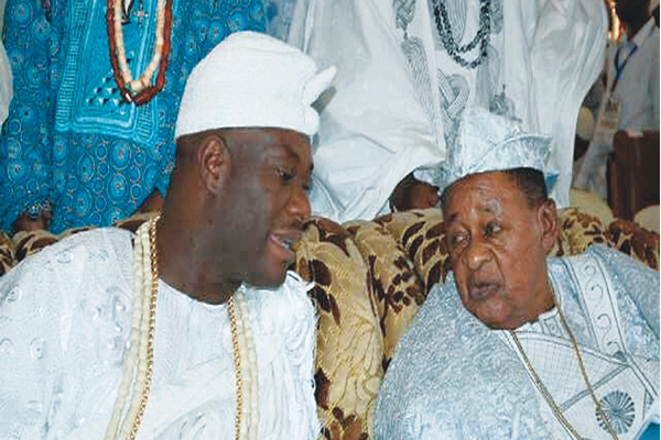 Ooni of Ife on historic visit to Alaafin of Oyo
