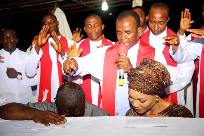 Mbaka praying for Senator Ekweremadu and wife