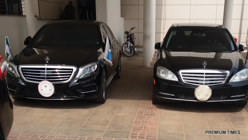 Saraki's new cars (Credit: Premium Times)