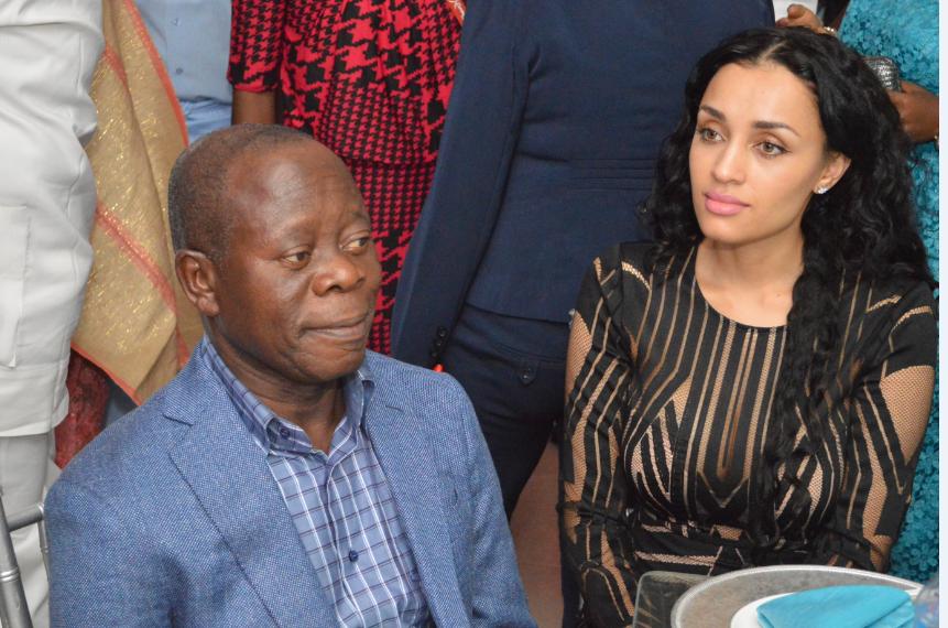 Oshiomhole and wife, Iara